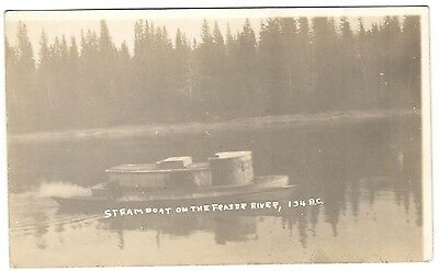 Rppc: Steamboat On The Fraser River, British Columbia