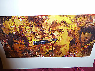 ROLLING STONES MONTAGE Giclee Fine Art Reproduction Print
