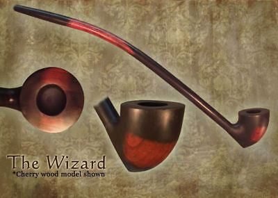 MacQueen Wizard Lord of the Churchwarden Tobacco Pipe Smoke Rings - Ash Wood