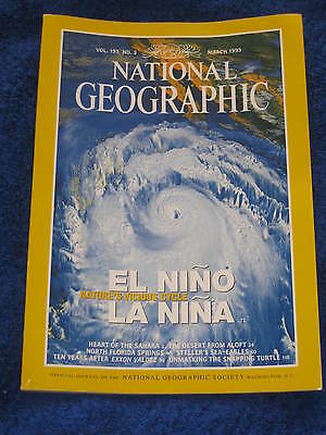 National Geographic Magazine March 1999. Vol 195, No.3.
