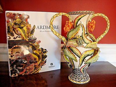 """ARDMORE CERAMIC BUMBLE BEE VASE Floral 11"""" Tall AAA-rated Original:$4K SALE"""