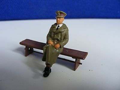 Seated Army Officer with Legs Crossed - 1:43/O Gauge Painted Metal Model