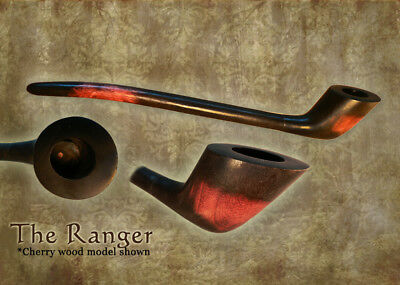 MacQueen The Ranger Lord of the Churchwarden Tobacco Pipe Smoke Rings - Ash Wood