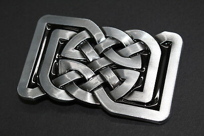 Rectangular Circle Celtic Knot Metal Belt Buckle  Scottish Gaelic