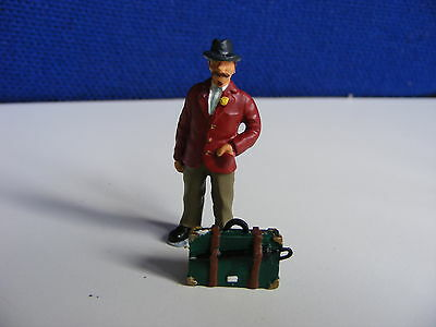 Smart Gent with Case and Umbrella  - 1:43/O Gauge Painted Metal Model