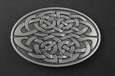 Oval Multiple Celtic Knot Metal Belt Buckle  Scottish Gaelic