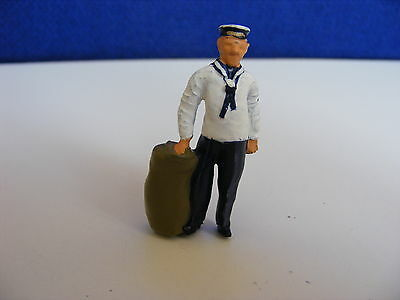 Royal Navy Sailor with Kit Bag - 1:43 Painted Metal Model