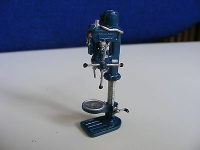 Tower Drill - Machine Shop Equipment - 1:43 O Gauge Painted Metal Model