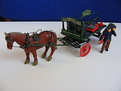 Coal Cart with Horse, Coal Man, Sacks and Scales - 1:43/O Gauge Metal Model