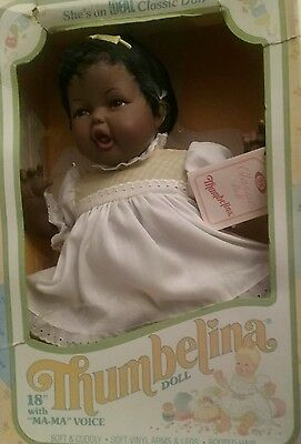 "Thumbelina Doll Ideal 18"" WITH  Box  Vintage 1984"