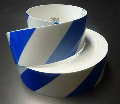 3M™   REFLECTIVE SAFETY TAPE CLASS 2 BLUE & WHITE STRIPE TAPE 50mm x 5m