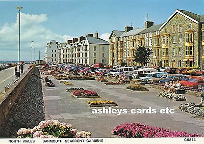 Barmouth Seafront Gardens Merionethshire old Postcard