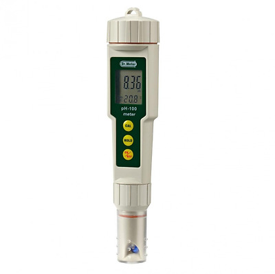 Dr. Meter® PH100 0.01 Resolution High Accuracy Pocket Size pH Meter