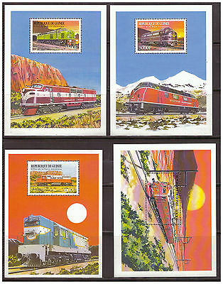 Guinea, Lokomotive | trains MiNr. 2518 - 2521 Block 601 - 604, 1999**