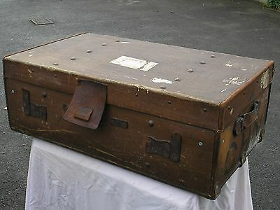 Antique / Vintage Steamer Trunk With Inner Lid  / Storage / Coffee Table /