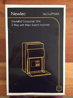 Newlec insulated Consumer Unit 2 Way With Main Switch Incomer