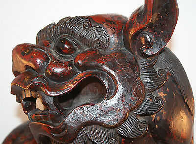 Japanese, Guardian Lion / Foo Dog, Early 20th c. Carved Wood
