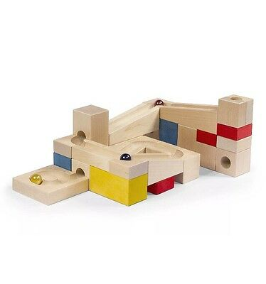 VARIS Wooden Marble Run Early Learning Construction Toys Puzzle Block Kids  New