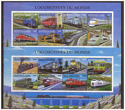 Guinea, Lokomotiven | trains MiNr. 2155 - 2190 4 x Klb + Block 563 - 566, 1998**