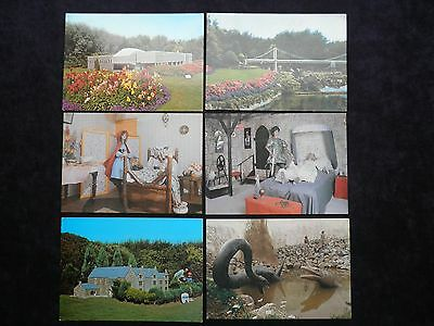 6 Vintage Cornish Postcards St. Agnes Leisure Park, Cornwall in Miniature