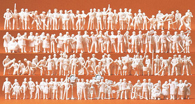 Preiser 16326 Different Trades People (Pk120 Figures Unpainted) OO/HO Gauge