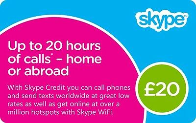 £20 GBP Skype Gift Card with £16 GBP
