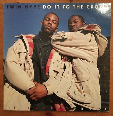 """Twin Hype: Do it to the crowd - 12"""" Vinyl Single Profile (PROFT 255) 1989"""