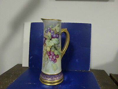 """Hand painted porcelains by Emma keithan Edwards LARGE PITCHER 14 1/2"""" TALL"""
