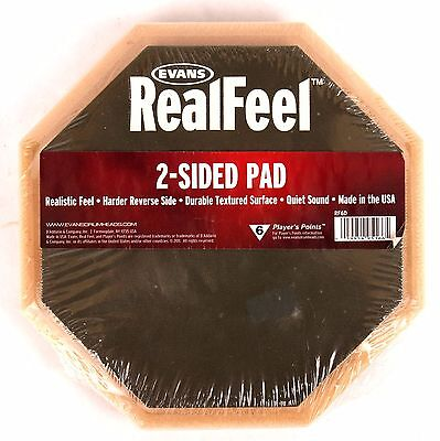 "Evans RealFeel® Double Sided Rubber 6"" Practice Drum Pad RF6D Real Feel 2-Sided"