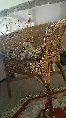 Pair of beautiful wicker armchairs with deep comfy cushions