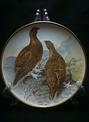 Red Grouse Franklin Porcelain By Basil Ede Collectors Plate