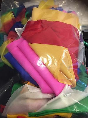 Bag Of Over 40 Used /  Imperfect Silks - Ideal For Magicians Magic Shows