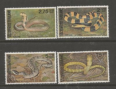 Thailand 1981 - Snakes. Serpientes -  Complete. FAUNA. MNH.