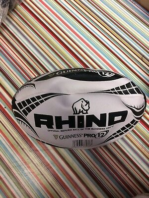 Rhino Size 5 Guinness Pro 12 Rugby Ball New