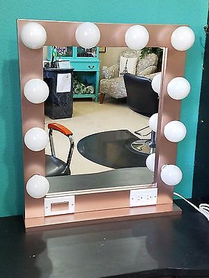 Hollywood Style Glamour Make Up/ Stylist Mirror, Rose Gold