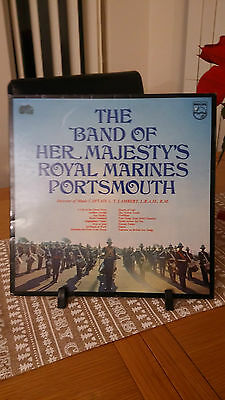 The Band Of Her Majestys Royal Marines Portsmouth 1970 Philips Records Vinyl Lp