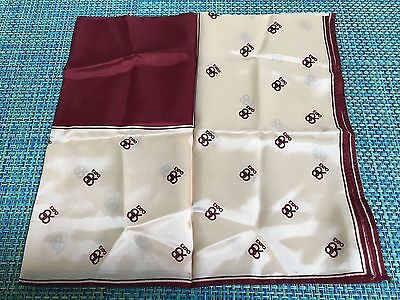 Vintage Brown Acetate 1986 EXPO VANCOUVER WOMENS Scarf Made in Japan
