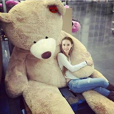 """200Cm Super Huge Teddy Bear (Only Cover) Plush Toy Shell (With Zipper) 79"""" !"""