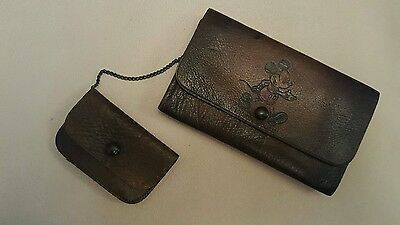 Vintage Minnie And Mickey Mouse Leather Purse
