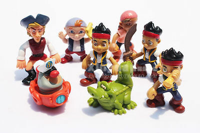 """3""""Jake and the Neverland Pirates 8 Piece Figures Set"""