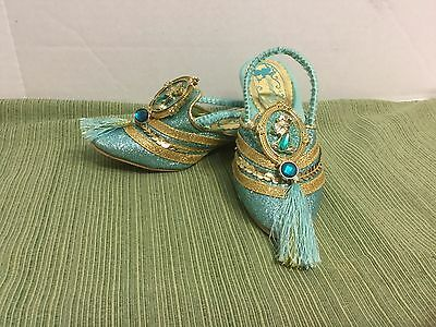 The Disney Store Jasmine Shoes/Slippers Costume Halloween 9/10 Girls/Kids