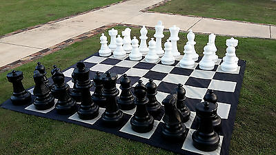 New Combo Giant Chess and Checkers Sets and Mat Quality PVC