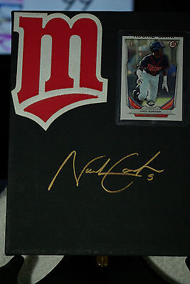 Nick Gordon Minnesota Twins Rookie display AUTOGRAPHED IN GOLD