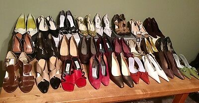 Lot of 41 New Pairs of Women's High End Designer Shoes & Boots