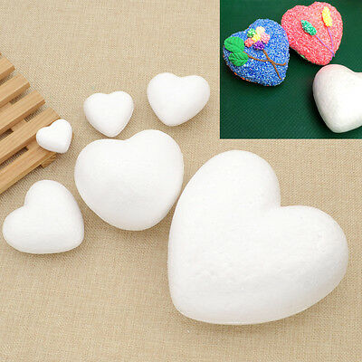 Styrofoam DIY Modelling Craft Heart Polystyrene FoamDecoration Various Sizes