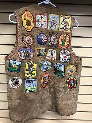 Vintage BOY SCOUTS Jacket with 26 Patches from 1960's to early 1970's AHWAHNEE