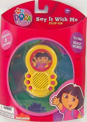 DORA Explorer English & Spanish Talking Clip-On Bilingual 6 Phrases NEW