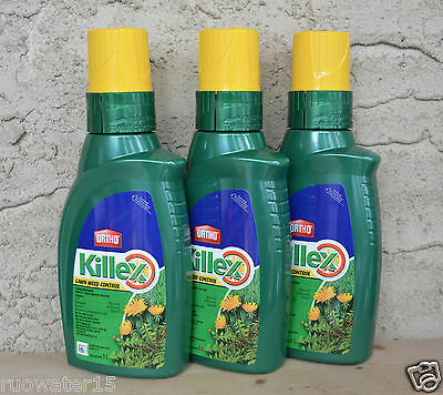3 Ortho Killex Lawn Weed Control Concentrate 1L Liquid Herbicide Killer Solution