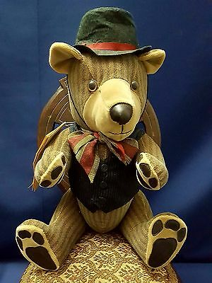 The Fuzzy Bear Co Ziggy Bear Vintage Jointed 19 iches HANDMADE
