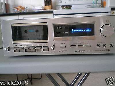 Vintage Pioneer Silver face Stereo Cassette Deck CT-F600, for repair